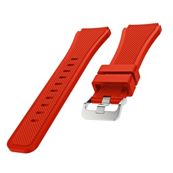 Sports Soft Silicone Replacement Watch Band Strap Watchband Wristband for Samsung Gear S3 Frontier Classic Red - intl