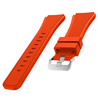 Sports Soft Silicone Replacement Watch Band Strap WatchbandWristband for Samsung Gear S3 Frontier Classic Orange - intl