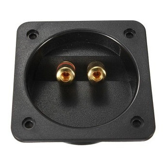 Square Subwoofer Enclosure Wire Install Speaker Box Terminal Screw Cup Connector - intl