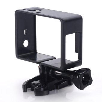 Standard Frame Clear View Protective Skeleton Housing Case Shell with Lens for Gopro Hero 3+ Hero 4 (Black)