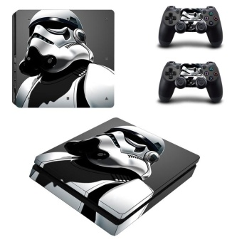 Star War Vinyl Skin Sticker for Sony Playstation 4 Slim PS4 SlimConsole & 2pcs Controller Protection Film Stickers YSP4S-0051 -intl