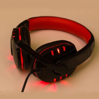 Stereo Gaming Headset Headband Head USB 3.5mm LED with Mic for PC RD - intl