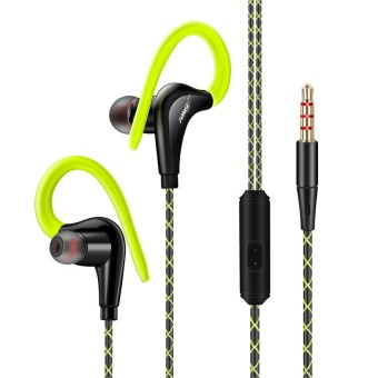 Stereo Sport Earphone Headphones In-ear Headset 3.5mm With Mic Earbuds For Mobile Phones (Green) - intl