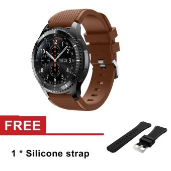 Strap for Samsung Galaxy Gear S3 Classic SM-R770 S3 FrontierSM-R760 SM-R765 Smart Watch Sport Silicone Watch Band - intl