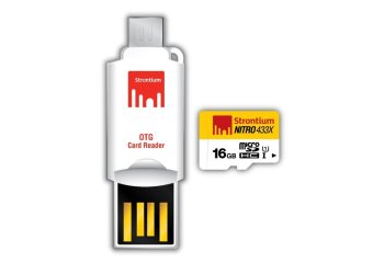 Strontium Class 10 16GB Micro SD Card with OTG Card Reader