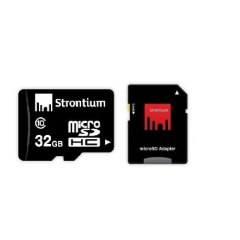 Strontium Class 10 32GB Micro SD Card with Adapter (Black)