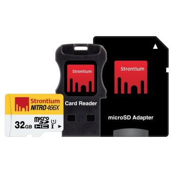 Strontium Nitro 32GB Micro SDHC UHS-I with SD Adapter and Card Reader 70MB/s SRN32GTFU1C