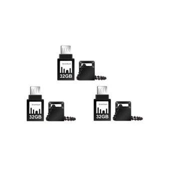 Strontium Nitro 32GB OTG Flash Drive Set of 3 (Gold/Black)