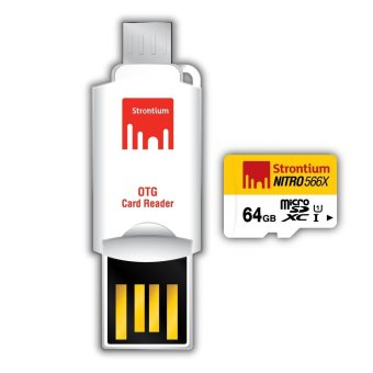 Strontium Nitro 64GB 566x Micro SD Card with OTG Reader