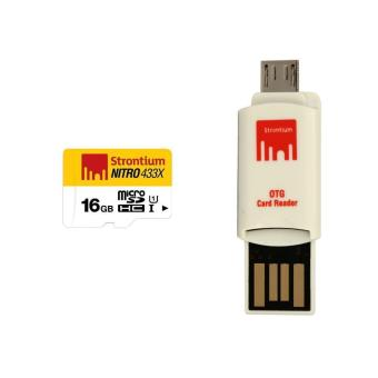 Strontium Nitro Class 10 16GB Micro SD Card with OTG Reader