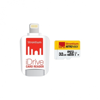 Strontium Nitro micro SDHC 32gb with Lightning iDrive OTG Card Reader SRN32GTFU1D