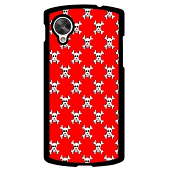 Sugar Skull Pattern Phone Case for LG Nexus 5 (Red) - picture 1
