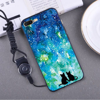 Suihua 7 plus/iphone7 silicone rose girl's Xin Qiao phone case