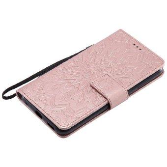 Sunflower pattern PU Leather Wallet Stand Flip Case Cover For Asuszenfone Selfie ZD552KL Case - intl - 5