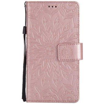 Sunflower pattern PU Leather Wallet Stand Flip Case Cover For Asuszenfone Selfie ZD552KL Case - intl - 2