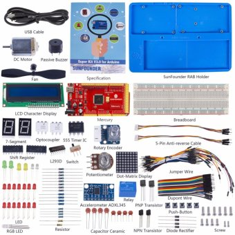 SunFounder Super Starter Kit V3.0 Wiht Mercury Board and TutorialBook for Arduino UNO R3 Mega 2560 - intl