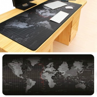 Super Large Size World Map Speed Game Mouse Pad Laptop Gaming Mousepad Practical Office Desk Resting Surface Large Mat