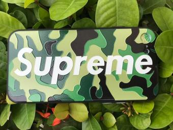 Supreme TPU Protective Rubber Cover Case for Apple Iphone 6 /6s(Camouflage Green)