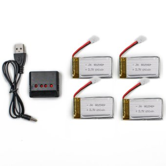 Syma 650mAh Li-Po Battery with Charger for Syma X5C X5SC and X5SW Drone