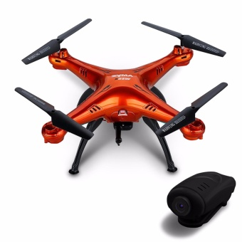 Syma X5SC Explorers 4 Channel 2.4GHz R/C 6-Axis Gyro Quadcopter Drone With 2MP HD Camera (Red)