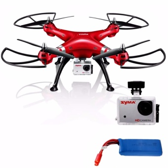 Syma X8HG Headless Mode 2.4G 4CH 6Axis Remote Control Quadcopter (Red)