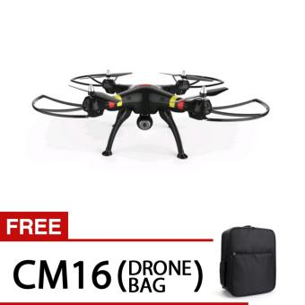 SYMA X8W WiFi FPV Headless Mode 2.4G Remote Control Quadcopter withHD 2.0MP Camera 6 Axis Gyro 3D Roll Stumbling UFO SYMA X8W/WiFi FPV/ with HD 2.0MP Camera/Headless Mode with free Drone Bag (Black)