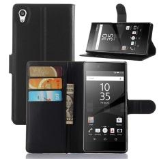 SZYHOME Phone Cases For SONY Xperia Z5 Premium Luxury Retro LeatherWallet Flip Cover Black Blue Brown