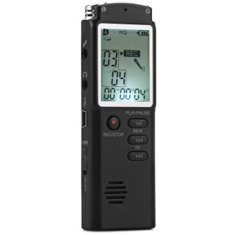 T60 Professional 8GB Time Display Recording Digital Voice / Audio Recorder MP3 Player (Black)