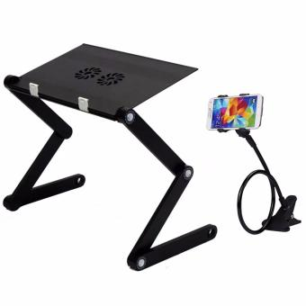 T8 Multi-functional and Foldable Laptop Table (Black) with LazypodColor May Vary