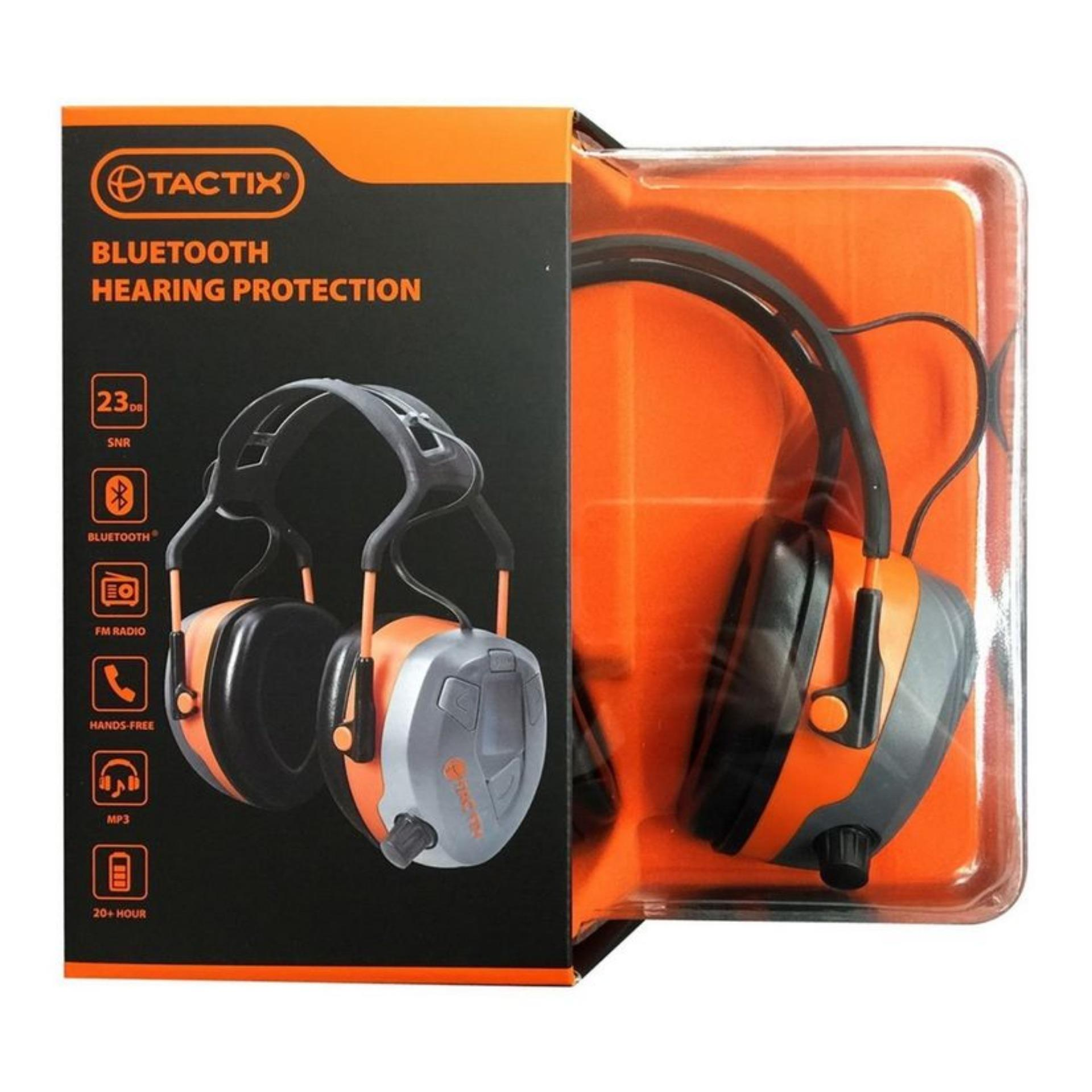 Tactix Bluetooth Earmuff Hearing Protection with FM Radio