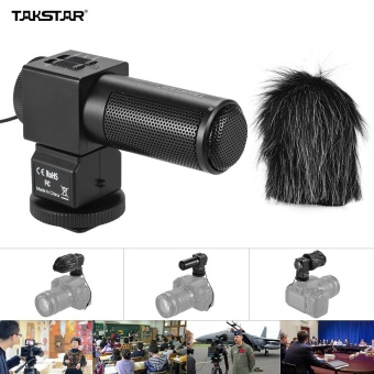 Takstar SGC-698 Pro Photography Interview On-camera Microphone Recording Mic for Nikon Canon Sony DSLR Camera DV Camcorder ^ - intl