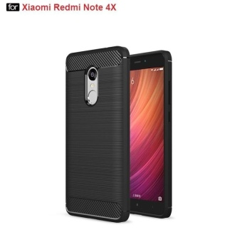 Tanxian soft Case for Xiaomi Redmi Note 4X (Black)