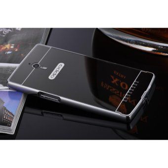 Taoyi Luxury Anti-scratch Ultra thin Mirror Metal Aluminum Frame Case for Oppo Find 7(Black) - intl