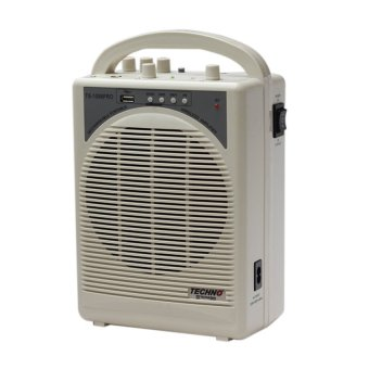 Techno Tamashi TS-1088PRO Portable Wireless PA Amplifier (White)