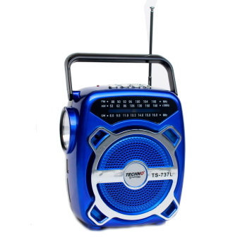 Techno Tamashi TS-737L 3 Band Radio with Light (Blue)