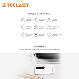 TECLAST T100CE 10000mAh Power Bank with Dual Input Dual Outputs(White) - 4