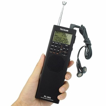 TECSUN PL-360 Radio DSP Radio FM MW SW LW Radio Receiver MultibandRadio Portable +External AM Antenna + Outdoor Antenna - black - 2