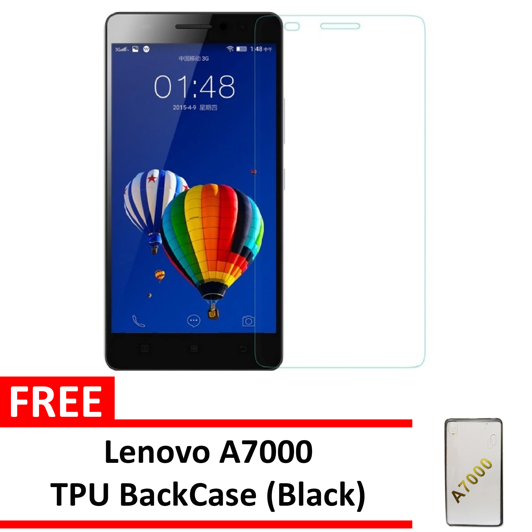 How To Buy Incipio Rubber Back Case For Myphone My89 Dtv Blue With Tempered Glass Premium Screen Protector 9h Untuk Lenovo A7000clear A7000 Clear Free Black