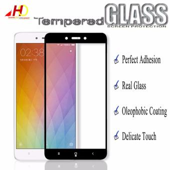 Tempered Glass Full Cover Screen Protector for Xiaomi Redmi 4X(Black)