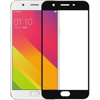 Tempered Glass Full Screen Protector HD For Oppo F3 Plus (Black)
