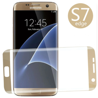 Tempered Glass Screen Protector for Samsung Galaxy S7 Edge (Gold)