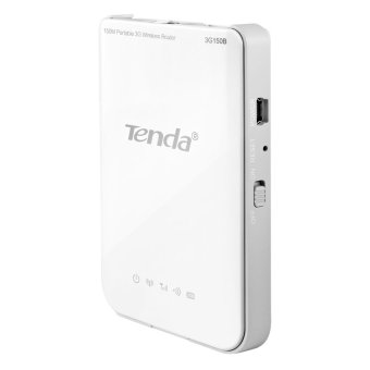 Tenda 3G150B Wireless N150 Pocket 3G Router with Battery (White)