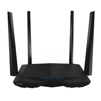Tenda AC6 AC1200 Smart Dual-Band Wireless Router 5GHz 867Mbps +2.4GHz 300Mbps WiFi Router with 4*5dBi External Antennas(Black) -intl - 2