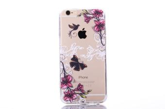 The New Apple 7 plus Mobile Phone IPhone 7 plus Mobile Phone Shell Painted Butterfly Acrylic Anti Fall Protective Sleeve - intl