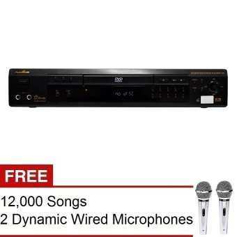 The Platinum P-20 Karaoke Player (Black) with FREE 12,000 Songs and 2 Dynamic Wired Microphone