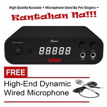 The Platinum Piano SD-Card DVD Karaoke Player (Black) Free High-End Wired Dynamic Microphone