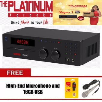 The Platinum Reyna 3 DVD/Karaoke Player (Black) with 19K songs w/free High End Mic and 16GB USB (Undergo Testing)