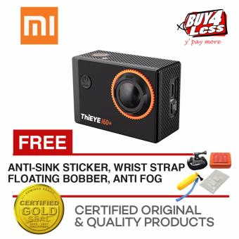 ThiEYE i60+ 12MP 4K ULTRA HD VIDEO Waterproof, Dustproof,Shakeproof Sports Mini Action Camera (Black) with Free accessories