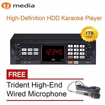 TJ Media TKR-305 HDD Karaoke Player 1TB (Black) with Free TR-97Trident Wired Microphone Price Philippines
