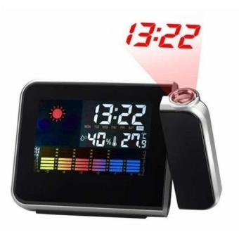 TMOT-LED Backlight Digital Weather Projection Alarm Clock WeatherForecast Station